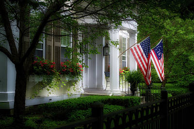 Photograph - Cooperstown New York Us Flags by Thomas Woolworth