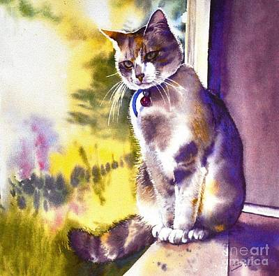 Coops The Cat Art Print by Sandra Phryce-Jones