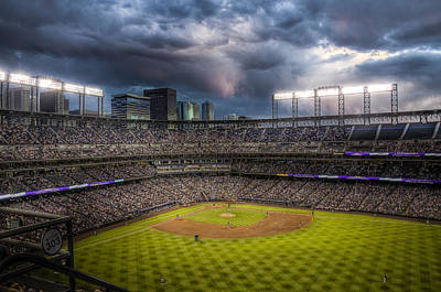 Coors Field Photograph - Coors Field Mood by Jessica Brooks