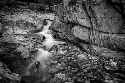 Photograph - Coos Canyon Maine Black And White by Rick Berk