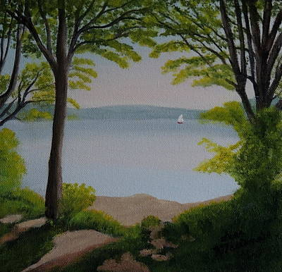 Wall Art - Painting - Cootes Paradise In The Evening by Lisa MacDonald