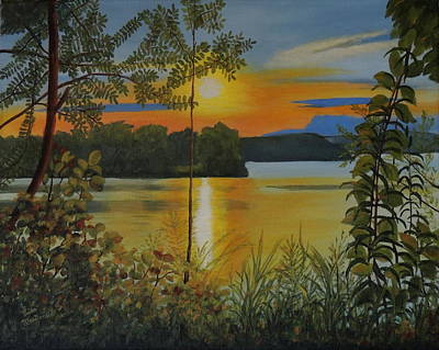 Wall Art - Painting - Cootes Paradise Sunset by Lisa MacDonald