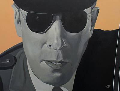 Hitchcock Film Painting - Cop In Psycho by Chuck Duncan
