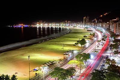 Photograph - Copacabana By Night by Mihai Andritoiu
