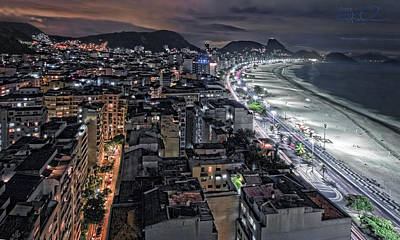 Copacabana Lights Art Print