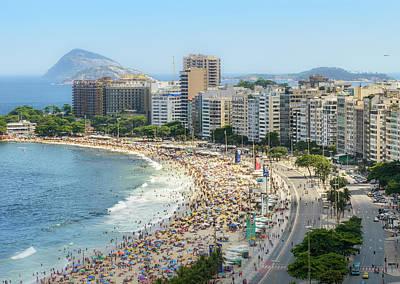 Photograph - Copacabana Rio De Janeiro, Brazil Aerial by Alexandre Rotenberg