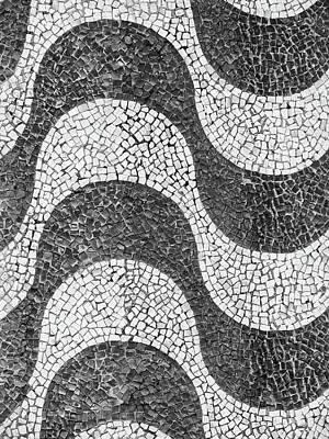 Copacabana Tiles In Rio De Janeiro Art Print