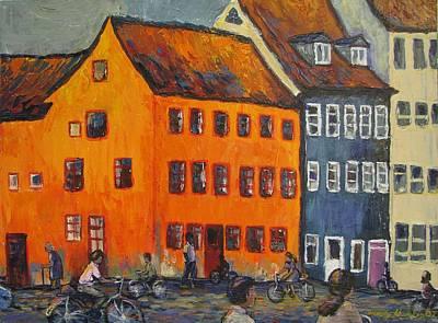 Painting - Copenhagen by Art Nomad Sandra  Hansen