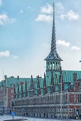 Photograph - Copenhagen Borsen Stock Exchange Building by Antony McAulay