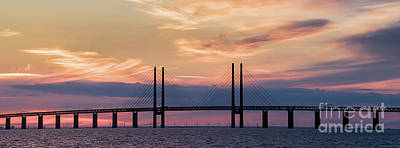 Photograph - Copenhagen - Malmo Bridge by Vyacheslav Isaev
