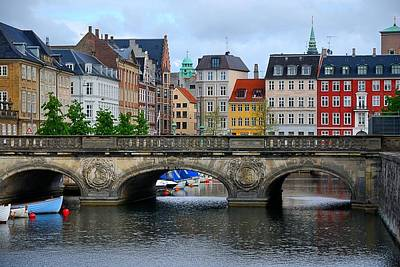 Landscape Photograph - Copenhagen Marble Bridge by Steven Richman