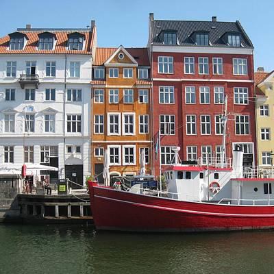 Copenhagen Denmark Digital Art - Copenhagen New Harbour by Cathy Jacobs