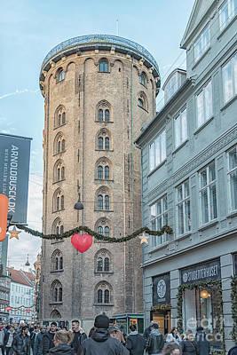 Photograph - Copenhagen Round Tower Street View by Antony McAulay