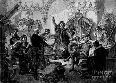 Copernicus Lecturing Historical Art Print by Wellcome Images
