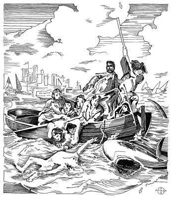 Copley Shark Print by Gary Peterson