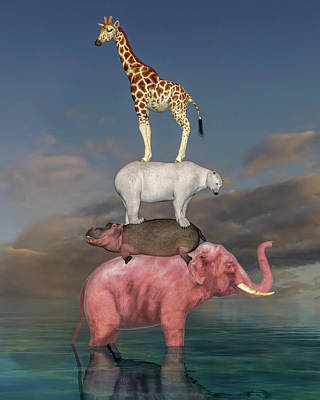 Surrealism Digital Art - Coporate Collaboration  by Betsy Knapp