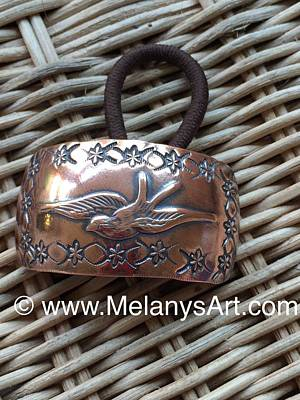 Custom Jewelry Jewelry - Copper Bird Ponytail Holder by Melany Sarafis