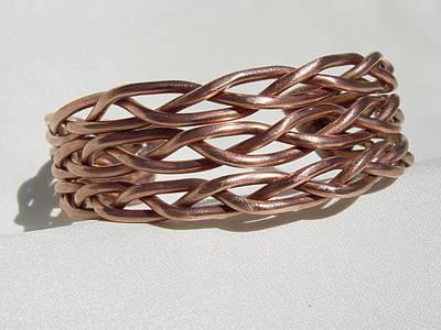 Copper Bracelet Sculpture - Copper Bracelet by Steve Mudge