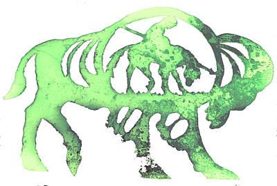 Copper Buffalo Art Print