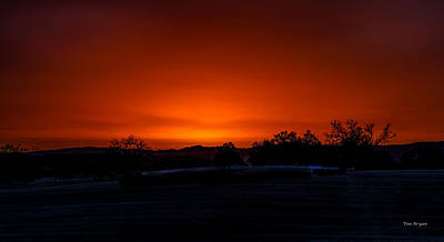 Photograph - Copper Colored Sky by Tim Bryan