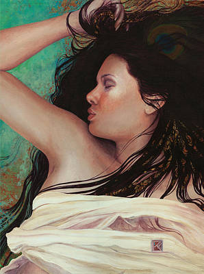 Print featuring the painting Copper Dreamer by Ragen Mendenhall