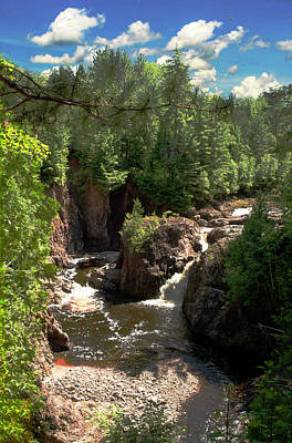 Photograph - Copper Falls, Morse, Wi by Jeff Kurtz
