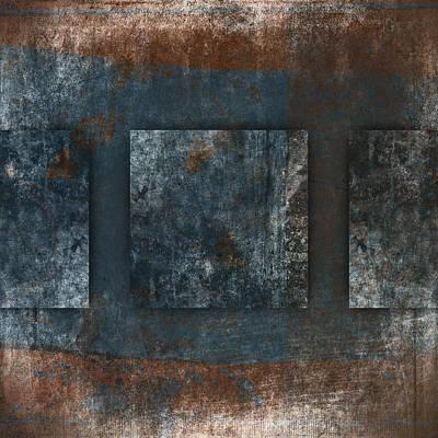 Rich Blue Digital Art - Copper Finish 2 by Carol Leigh