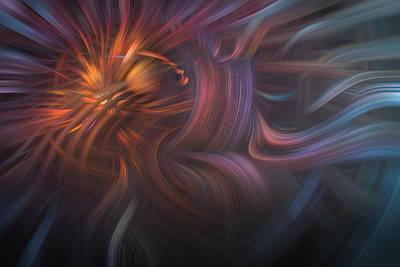 Copper Flames Print by Debra and Dave Vanderlaan