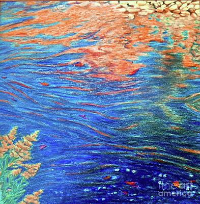 Copper Flow Art Print