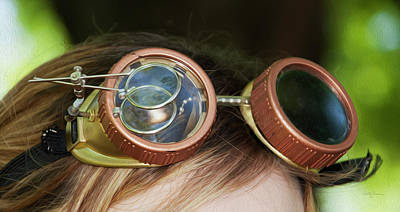 Photograph - Copper Goggles - Steampunk by Betty Denise