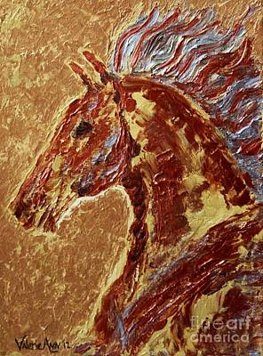 Bronc Painting - Copper Horse by Valerie Phillips