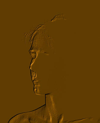 Photograph - Copper Kammie-three Quarters Portrait by David Coblitz