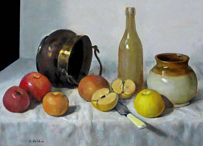 Painting - Copper Kettle And Apples by Robert Holden