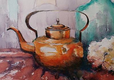 Painting - Copper Kettle by Kathy  Karas