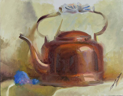 Wall Art - Painting - Copper Kettle Study No. 1 by John Folley