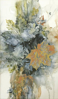 Painting - Copper Leaves by Jerry Kelley