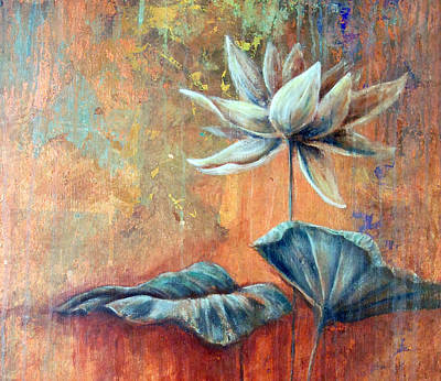 Copper Lotus Art Print