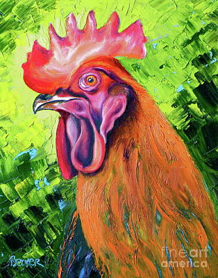 Painting - Copper Maran French Rooster by Susan A Becker