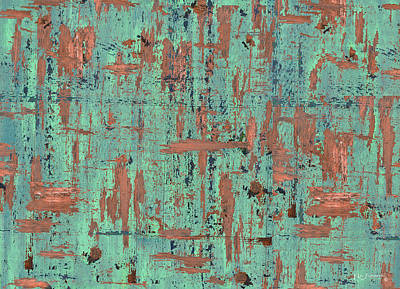 Postmodern Mixed Media - Copper Patina Mdern Art by Ken Figurski