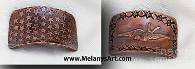 Photograph - Copper Ponytail Holder Bird Stars by Melany Sarafis