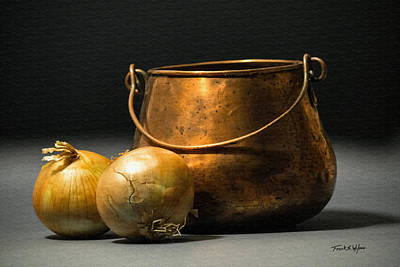 Photograph - Copper Pot And Onions by Frank Wilson