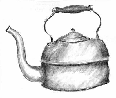 Drawing - Copper Pot by Kevin Callahan