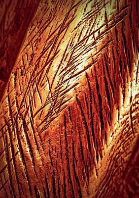 Relief Copper Art Photograph - Copper Sculpture Detail by Jozef Jankola