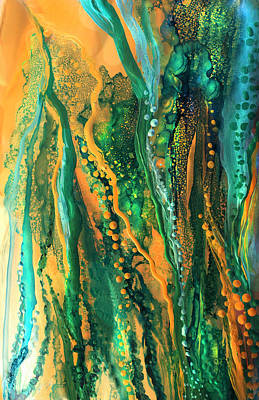 Mixed Media - Copper Sea - Vertical by Carol Cavalaris