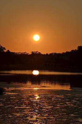 Science Collection - Copper Sunset Lake DeSoto by rd Erickson