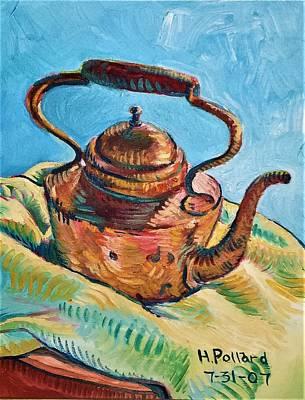 Painting - Copper Teapot by Herschel Pollard