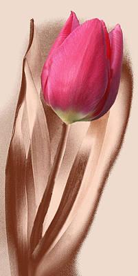 Copper Tulip Original by Terence Davis
