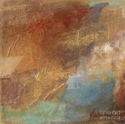Painting - Copper Turquoise Abstract by Kristen Abrahamson