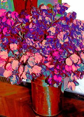 Venice Beach Bungalow - Copper Vase Floral by M Diane Bonaparte