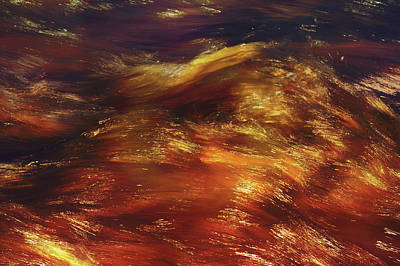 Photograph - Copper Water Abstract by Jenny Rainbow
